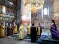 4 июля 2020 г., в неделю 4-ю по Пятидесятнице, епископ Силуан совершил вечернее богослужение в Макарьевском монастыре