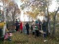 """11 октября 2017 г. участники молодёжного клуба """"Ташино"""" приняли участие в мероприятии по увековечиванию памяти заслуженного жителя села Шутилово"""