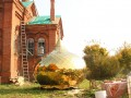 26 сентября 2020 г. были установлены крест и главный купол на храм в селе Егорьевском