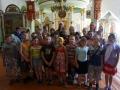 17 июля 2014 г. сотрудники Лысковской епархии провели экскурсию по Георгиевскому храму для  воспитанников детского лагеря, организованного в центре социальной защиты населения Лысковского района.