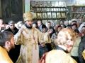 26 февраля 2017 г., в неделю сыропустную, воспоминание Адамова изгнания, епископ Силуан совершил Литургию в Георгиевском храме города Лысково