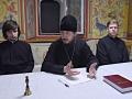 11 августа 2018 г. епископ Силуан встретился с молодыми паломниками в Макарьевском монастыре.