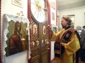 25 ноября 2017 г., в неделю 25-ю по Пятидесятнице и день памяти святителя Иоанна Златоуста, епископ Силуан совершил вечернее богослужение в Дмитриевском храме села Можаров Майдан