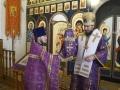 25 марта 2018 г., в неделю 5-ю Великого поста, епископ Силуан совершил литургию в Преображенском храме села Спасское