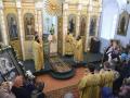 29 октября 2017 г., в неделю 21-ю по Пятидесятнице, епископ Силуан совершил литургию во Владимирском храме села Вазьянка